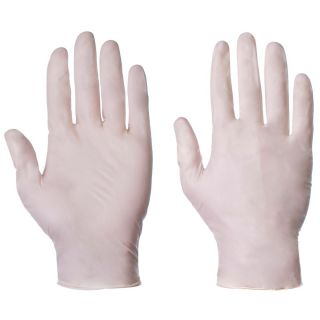 Latex Powder Free Disposable Glove Clear: 1020