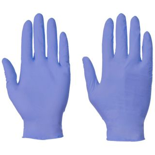 Nitrile Blue Powder free Disposable  Glove (100): 1211