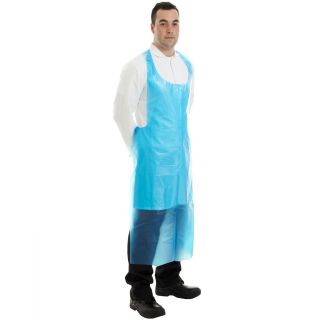 Apron Polythene Disposable 50 Mic Flat Pack (500): 4040