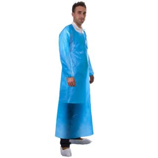 Sleeved Apron Polyethene Disposable (200): 490
