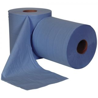 Centrefeed Roll: 2 ply 6 x 150mtr Blue: AF113