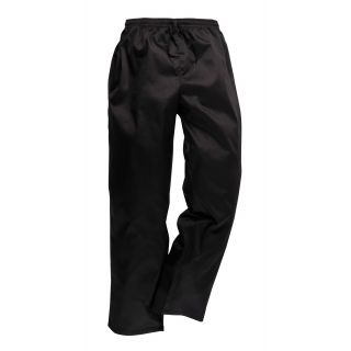 Portwest Drawstring Chef's Trousers Black: C070