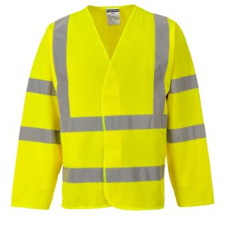 High Vis Long Sleeve Vest Jacket
