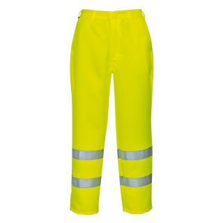 High Visibility Poly/Cotton Trouser: Portwest E041