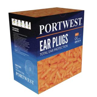 Portwest Ear Plug Dispenser Refill Pack ( 500 pairs ) Orange: EP21