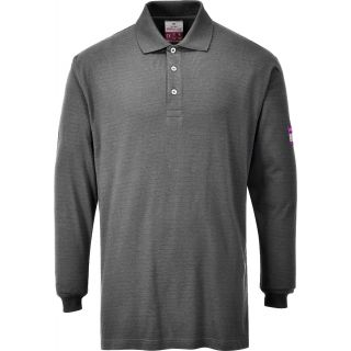 Flame-Resistant Anti-Static Long Sleeve Polo Shirt: FR10