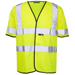 Hi-Vis Short Sleeved Vest: