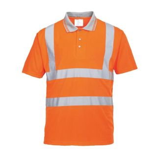 Portwest High Visibility Polo Shirt GO/RT: RT22