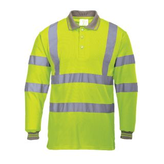 Hi-Vis Long Sleeved Polo Shirt: S277