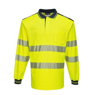 T184 Hi Vis Polo Shirt Long Sleeve