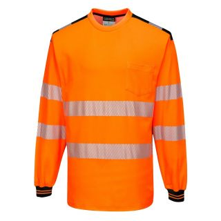 T185 Hi Vis Teeshirt Long Sleeve