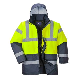 High Vis 2 Tone Yellow Traffic Jacket: S466