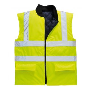 High Vis Lined Bodywarmer Reversible: S469