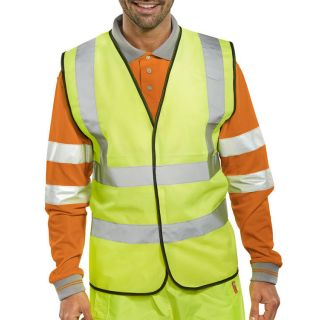 High Visibility 2 Band Vest: WY2